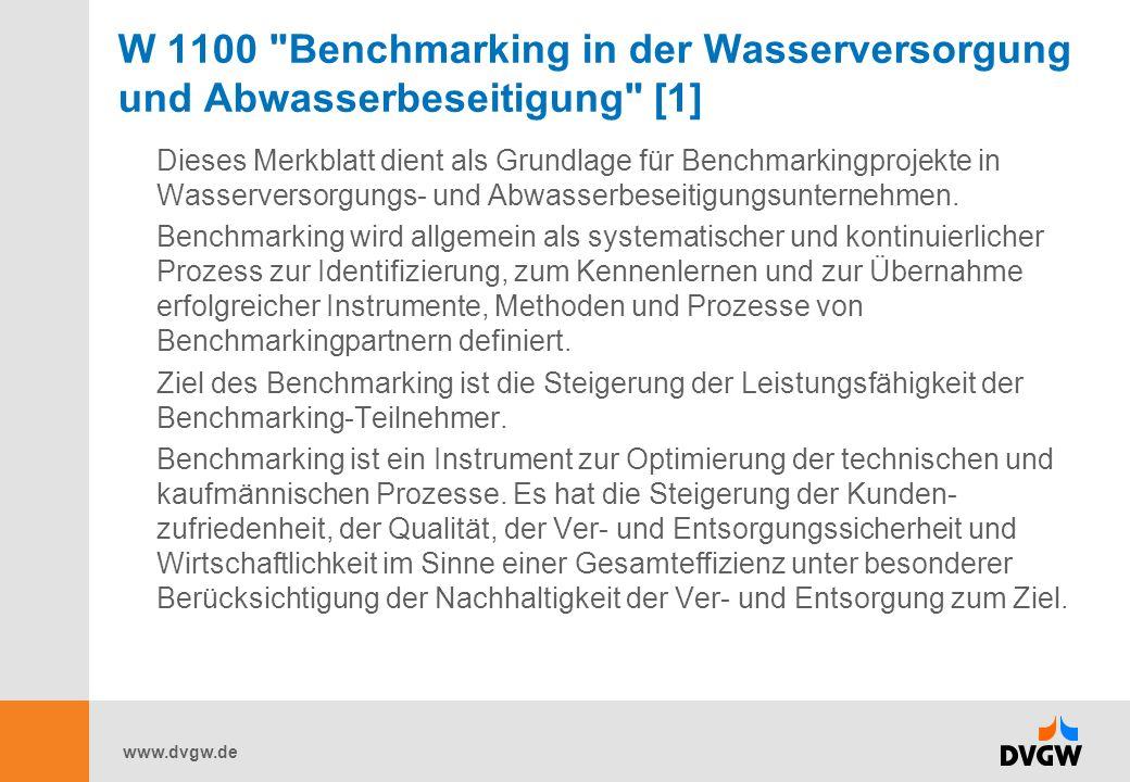 W 1100 Benchmarking in der Wasserversorgung und Abwasserbeseitigung [1]